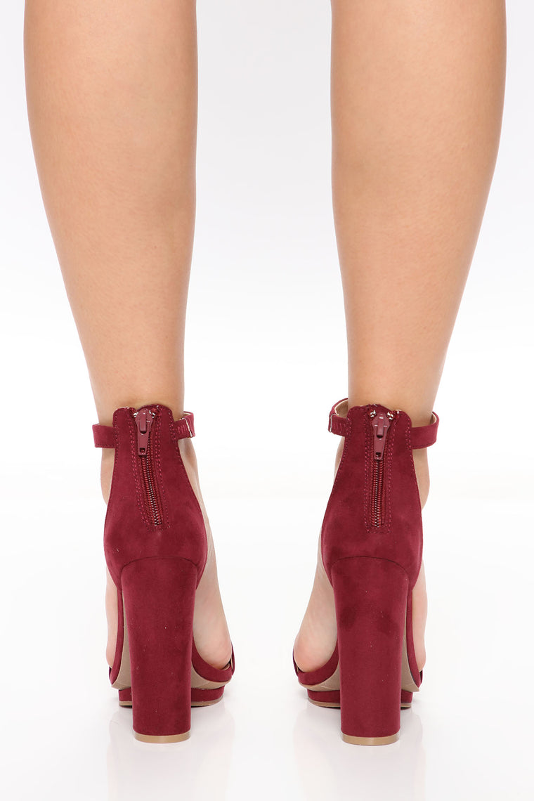 Simply Chic Heel - Burgundy