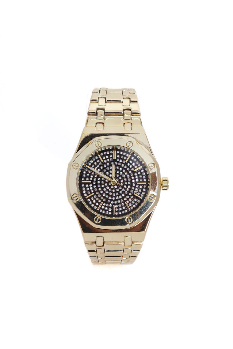 A Typical Day Iced Up Watch - Gold/Black