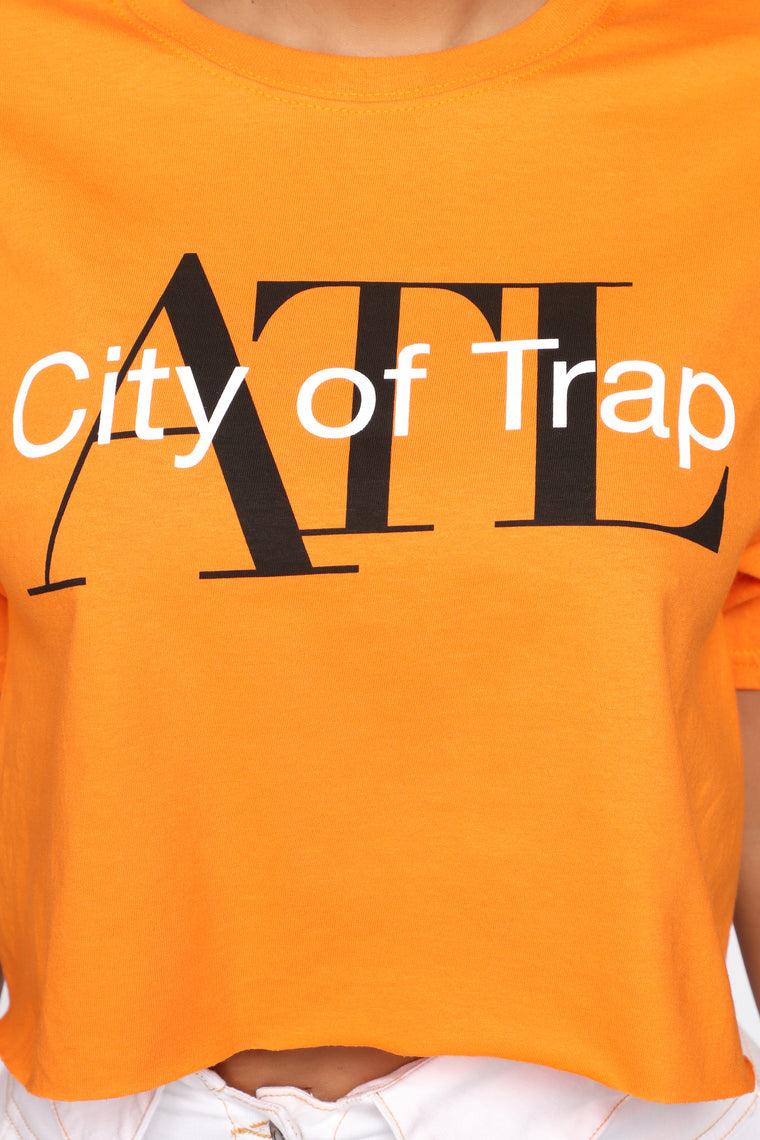 ATL City Of Trap Crop Top - Orange