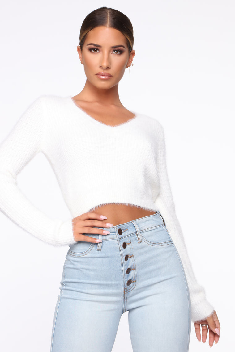 When You Need It Sweater   White by Fashion Nova
