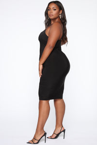 Simply Radiant Midi Dress - Black