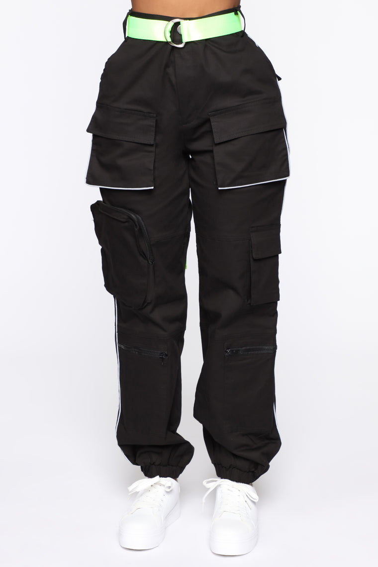 Fearless Cargo Joggers - Black