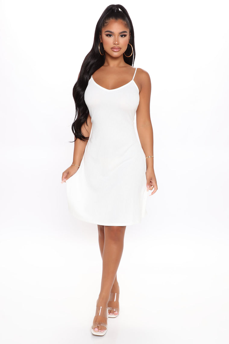 Let Me Be Your Sweetheart Mini Dress - White
