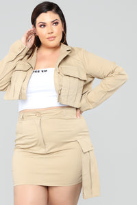 Simply Over You Set - Khaki