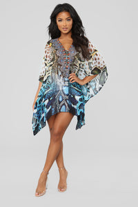 Made Memories Coverup Tunic - Black/Combo