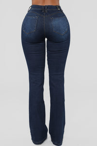 Bring It Down Flare Jeans - Dark Wash