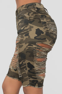 Wave Crasher Bermuda Shorts - Camo