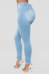 Get You Alone Skinny Jeans - Light Blue Wash