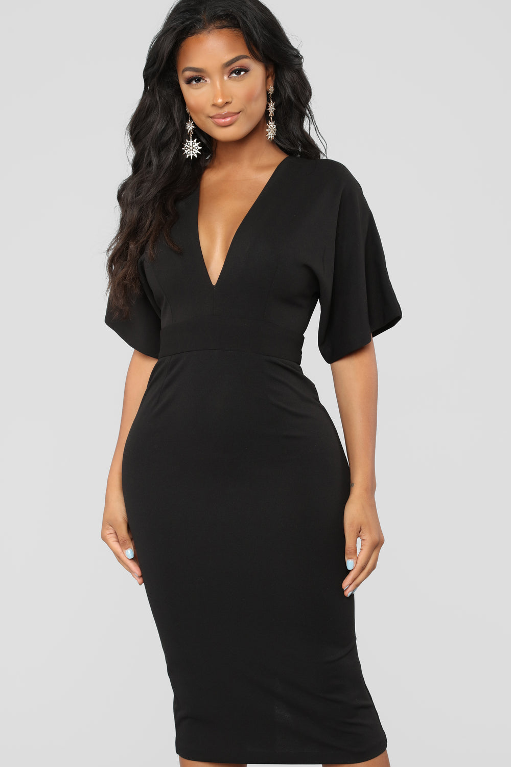 Life Is A Party Midi Dress - Black