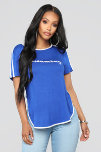 Not Dreaming Of You Tee - Royal Blue
