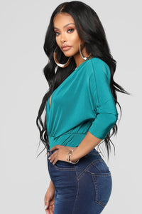Denise Bodysuit - Teal