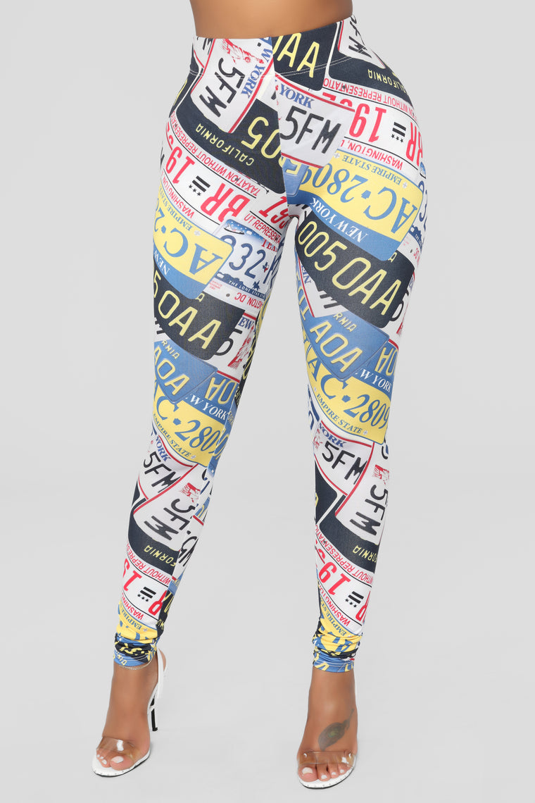 Where Have You Been Leggings - Multi
