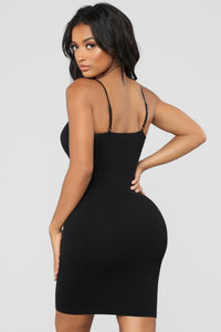 Forever Snatched Shapewear Dress - Black