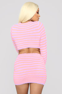 Sher Stripe Set - Pink