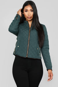 Evelyn Quilted Jacket - Hunter