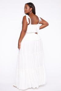 Searching For Your Love Maxi Dress - Off White Angle 4