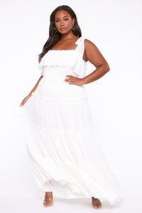 Searching For Your Love Maxi Dress - Off White Angle 1