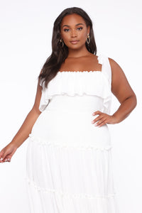 Searching For Your Love Maxi Dress - Off White Angle 2