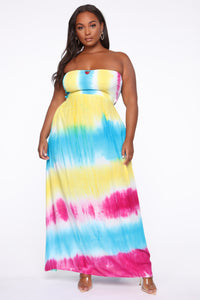 Dyeing To Meet You Tie Dye Maxi Dress - Multi Angle 5
