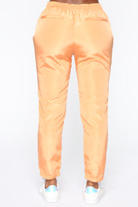 Come On Over Windbreaker Joggers - Orange