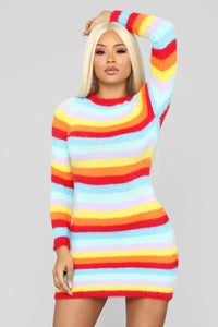 Pot Of Gold Stripe Dress - MultiColor Angle 1