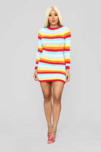Pot Of Gold Stripe Dress - MultiColor Angle 2