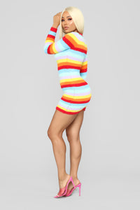 Pot Of Gold Stripe Dress - MultiColor Angle 3