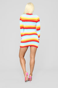 Pot Of Gold Stripe Dress - MultiColor Angle 4