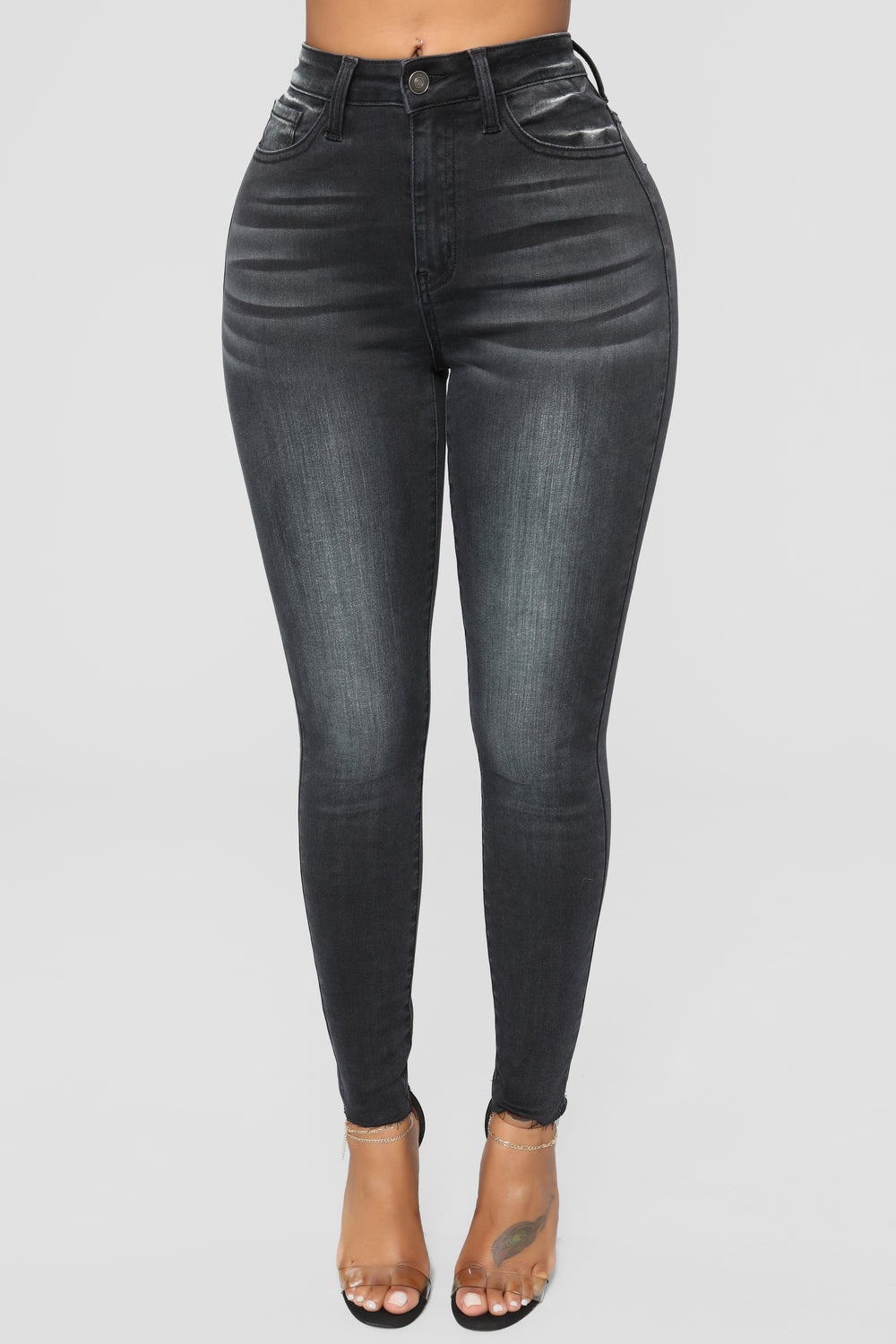 More To See High Rise Jeans - Black
