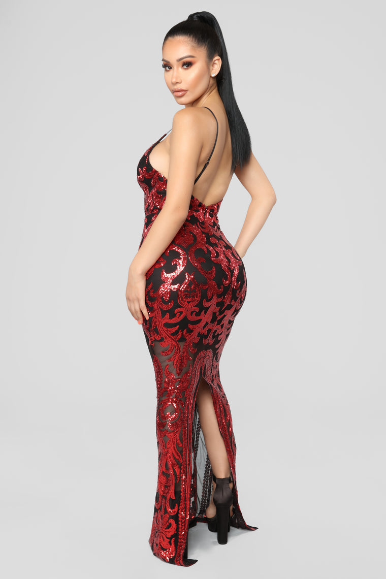 Guest Of Honor Sequin Dress - Red