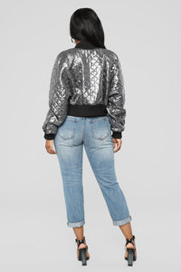 Why Not Metallic Bomber - Silver