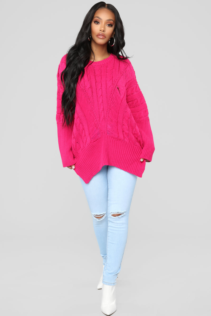 Need It In My Life Sweater - Hot Pink