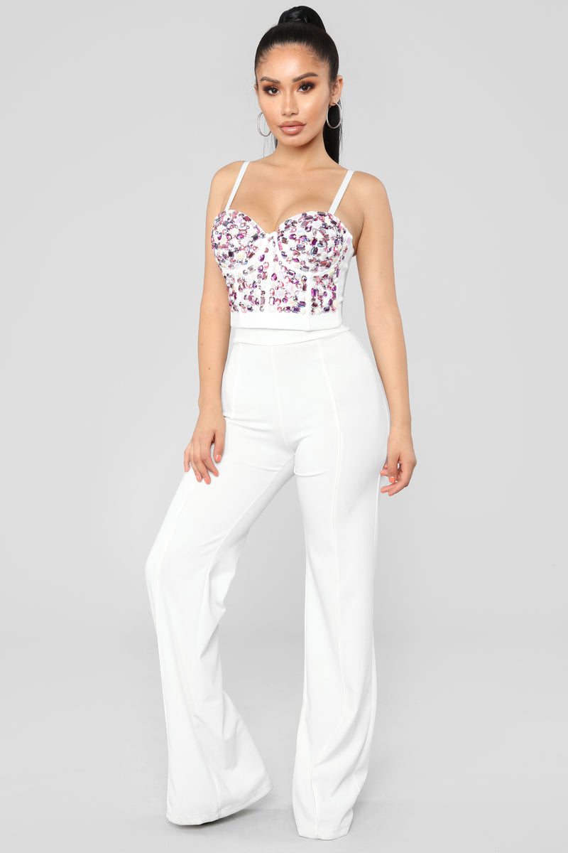 Here To Shine Bustier Top - White