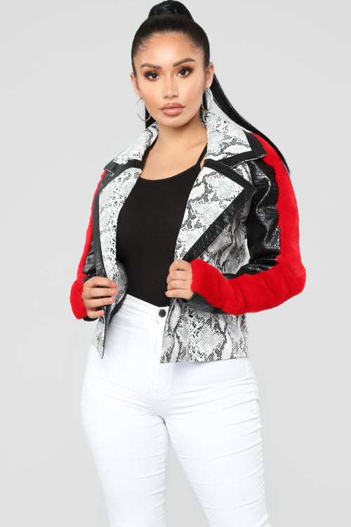 Beast Jacket - White/Black