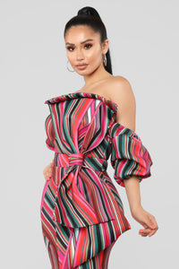 You Won't Forget Me Maxi Dress - Red/Multi