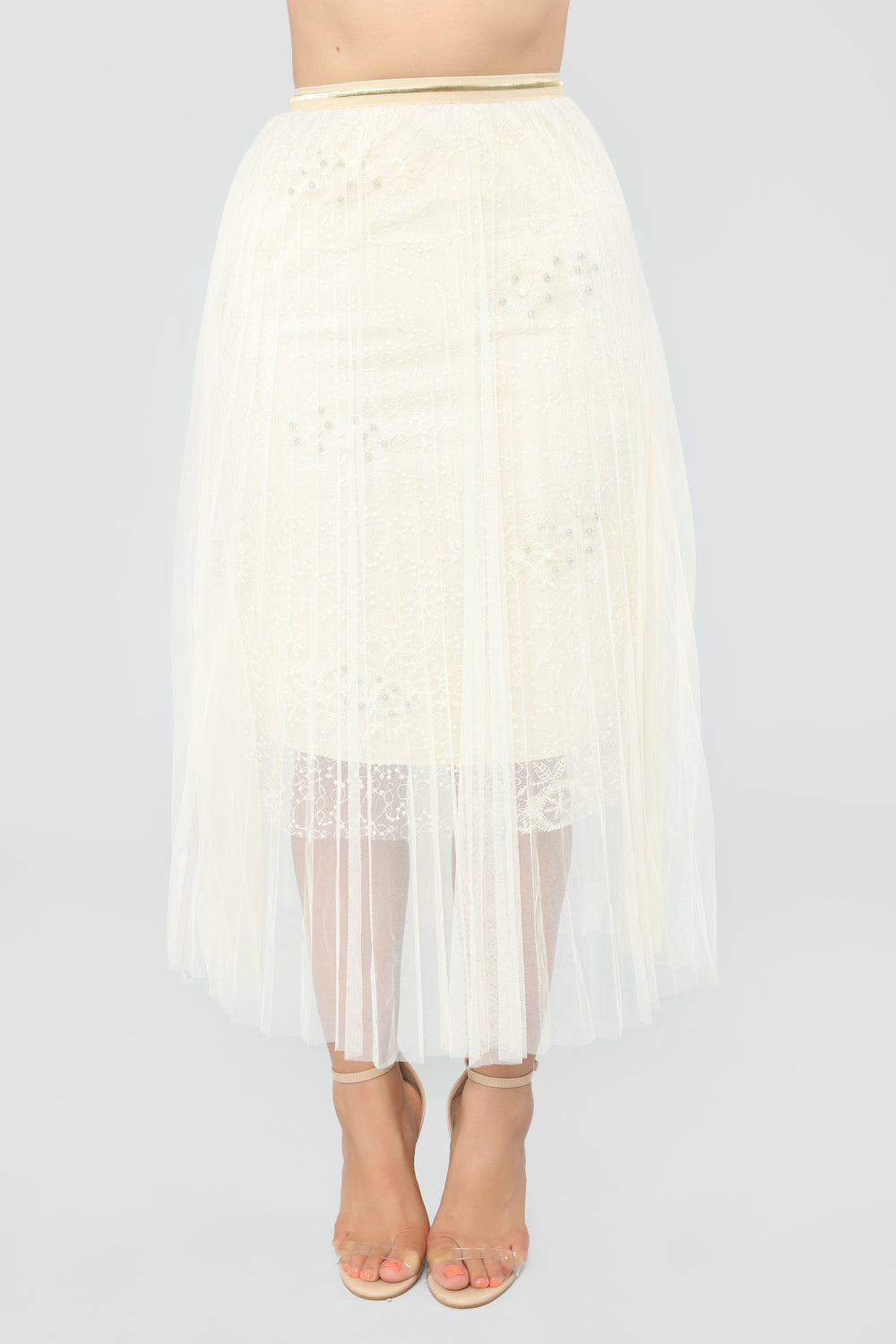 New Me Embroidered Skirt - Ivory