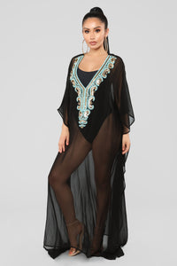 Exotic Touch Coverup Tunic - Black