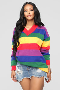 Retro Babe Tunic Sweater - Multi