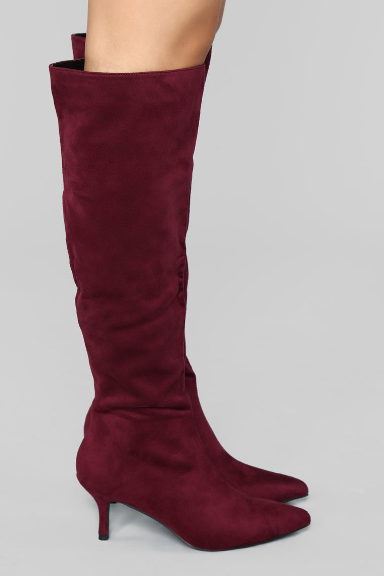 Get It Straight Boot - Burgundy