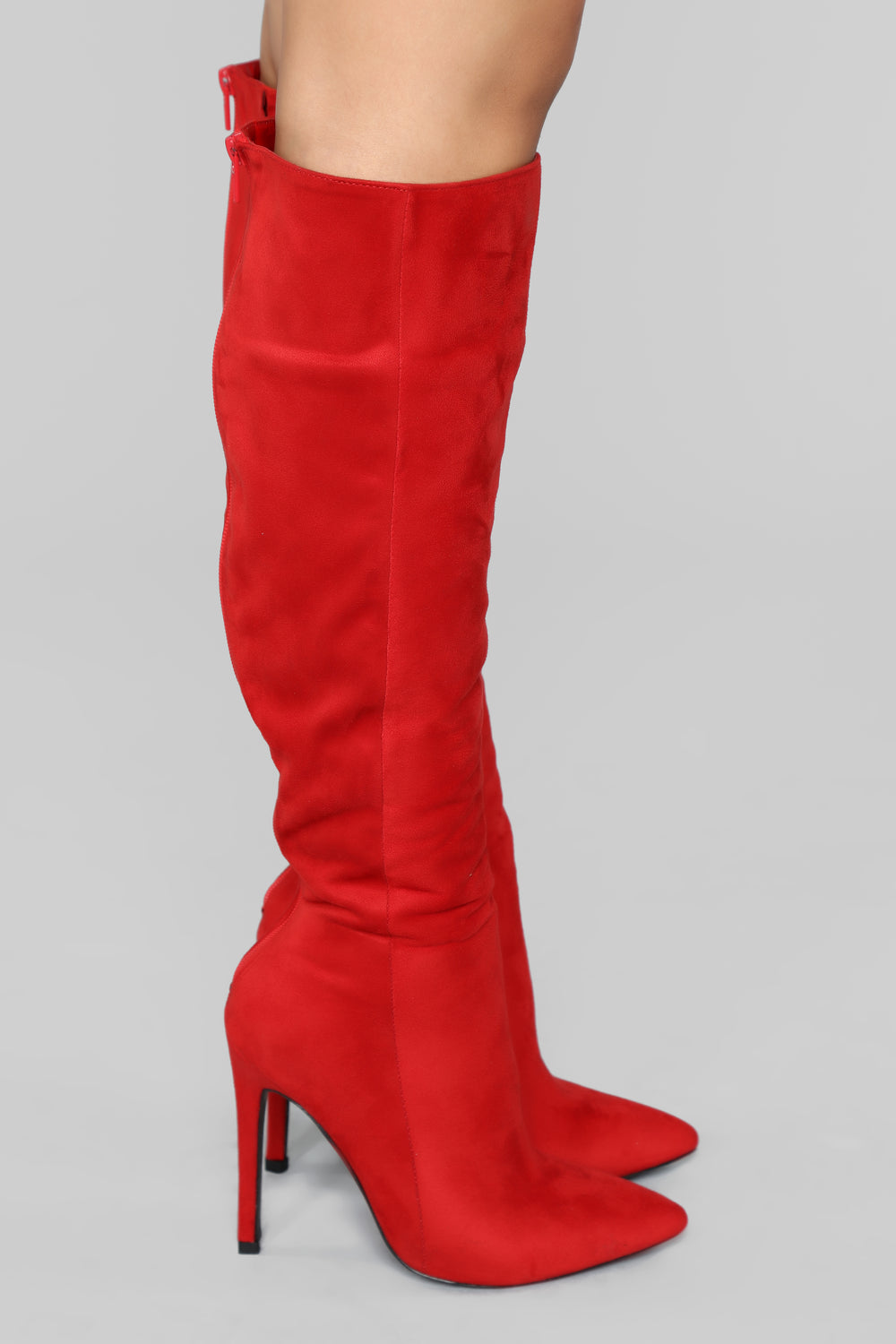 Typical Me Heeled Boot - Red