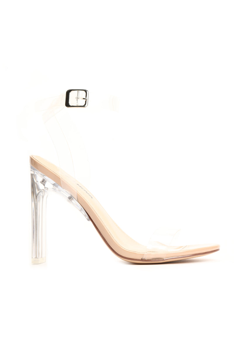 A Glass Dream Heel - Nude