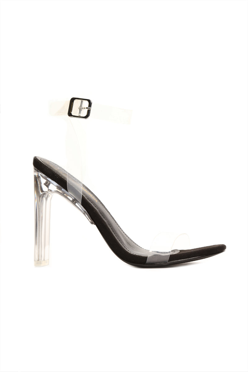 A Glass Dream Heel - Black