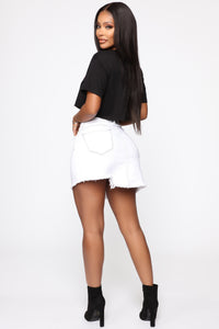 Better With You Denim Skirt - White Angle 6