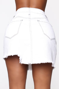 Better With You Denim Skirt - White Angle 5