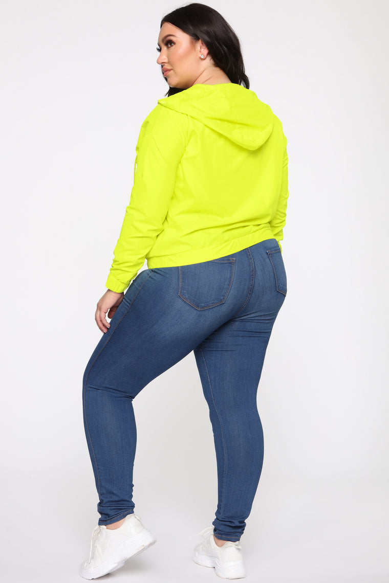 Stay In Your Lane Jacket - Neon Yellow