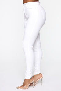 Monday Morning Skinny Pants - White Angle 3