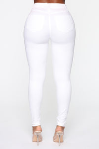 Monday Morning Skinny Pants - White Angle 5