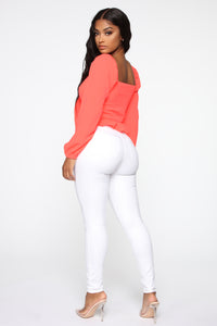 Monday Morning Skinny Pants - White Angle 6