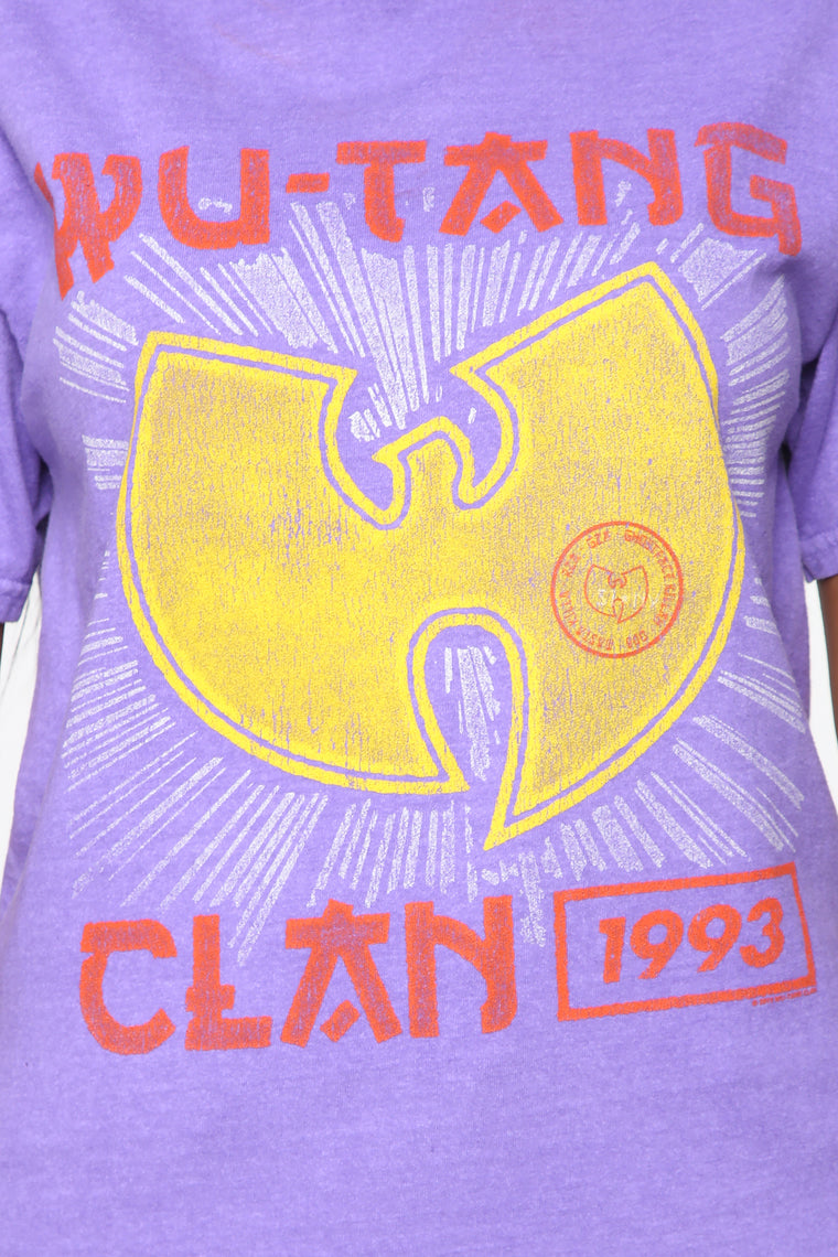 Wu Tang Clan Washed Tee - Purple