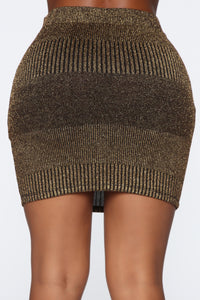 Holding It Down Mini Skirt - Gold